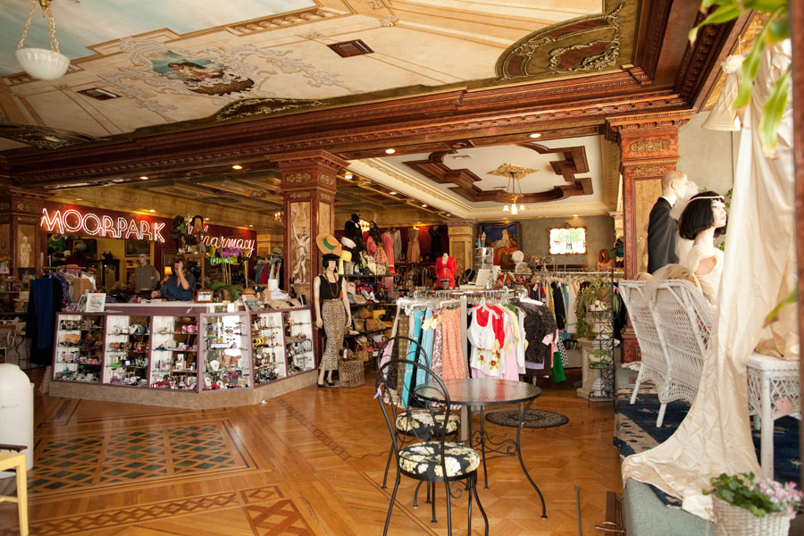 Interior View of Playclothes Vintage Fashions, 3100 W Magnolia Blvd., Burbank, California
