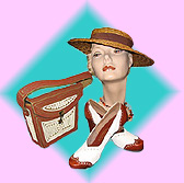 Vintage Women's Hats, Shoes, Purses at Playclothes Vintage Fashions